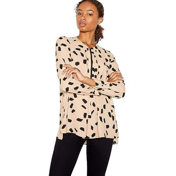 425dbca82b Principles Womens Camel Dalmatian Print Zip Top  Principles  Amazon ...