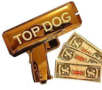 Amazon com: Rapid$Gun Money Gun Toy + 3 X 100 Prop Money + 2