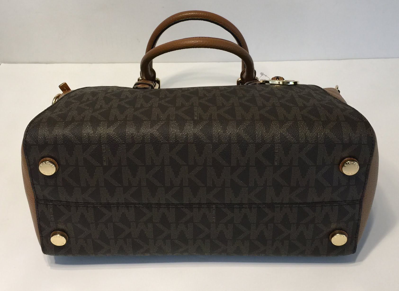 MICHAEL Michael Kors Ciara Large TZ Satchel bundled with Michael Kors Jet Set Travel Continental Wallet Wristlet (Signature MK Brown/Acorn) by Michael Kors (Image #5)