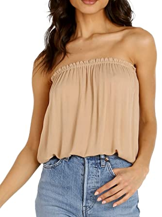 52d48d0487 Indah Gemma Tube Top Nude at Amazon Women's Clothing store: