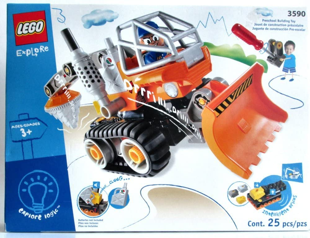 LEGO Town Drill and Excavator of 3590 Aix Proa (Japan Import)