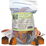 Maine USA Chaga Mushroom Premium Tea Chunks, 4oz, Not Sourced Out Of Country, Organic Wild Harvested, 34 -50 Servings