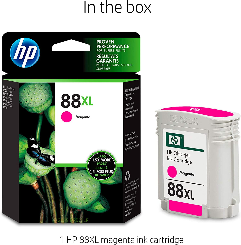 Myriad Re-Manufactured Inkjet Cartridges K550 Bulk: RC9392 Replacement for HP C9392AN C9387AN 16 Inkjet Cartridges 88XL Magenta; Models: Officejet K550 OfficeJet Pro K5400 etc; Magenta Ink