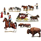 """Beistle 52039 Printed Wild West Character Props, 13"""" to 4' 4"""", 9 Pieces In Package"""