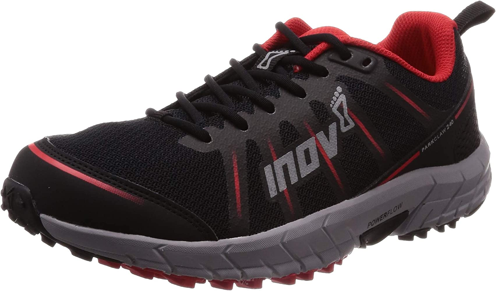 Inov8 Mens Parkclaw 240 Trail Running Shoes Trainers Sneakers Black Red Sports