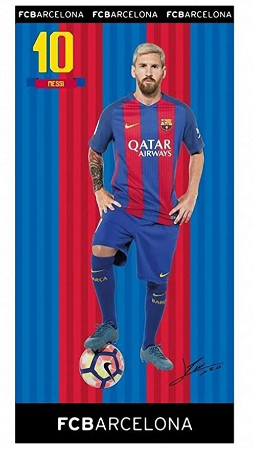 Toalla DE BAÑO Playa Piscina Leo Messi Nº 10 FC Barcelona 150 X 75 CM 100