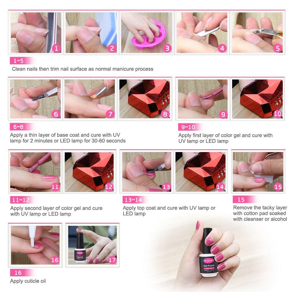 CLAVUZ Gel Nail Polish 24pcs Soak Off Gel Nail Polish Kit Nail Art Manicure Pedicure New Starter Nude Color Gift Set by CLAVUZ