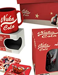 Fallout マグカップ Gift Box Nuka Cola Glass and コースター 新しい 公式 PS4 Xbox