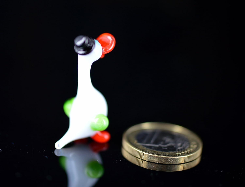 /Animaux en verre Verre Oiseau /Étag/ère Vitrine Figurine d/écoratif /Figurine en verre/ Canard avec chapeau Mini/ /petite oie/