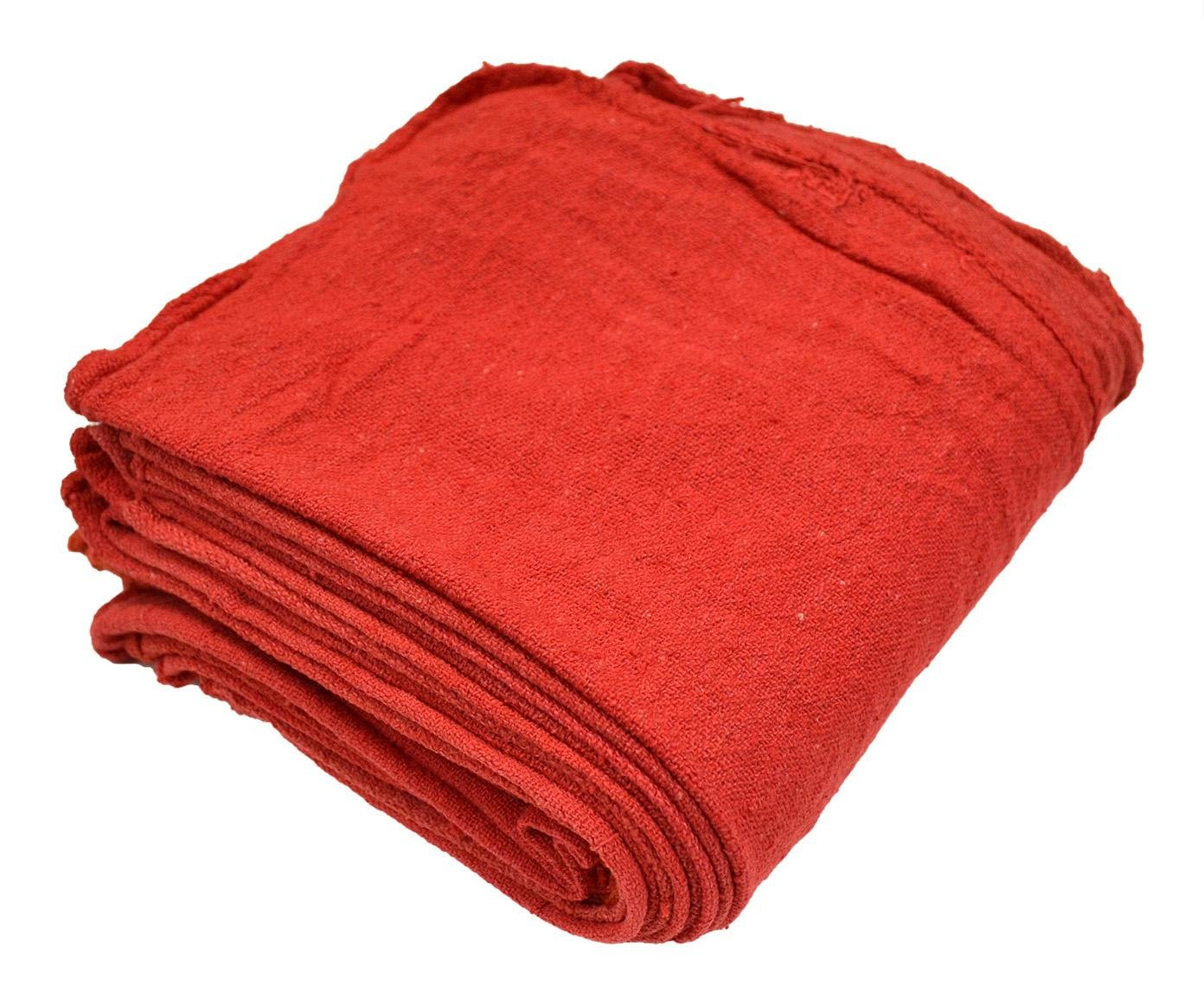 Pro-Clean Basics A21818 Reusable Shop Towels, Red, 12' x 14', Bale of 2,500 12 x 14 R&R Textile Mills