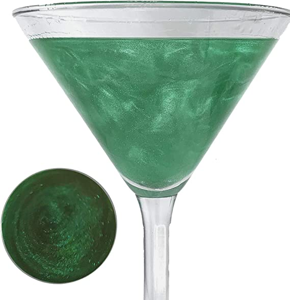 Snowy River Natural Emerald Cocktail Glitter - Kosher Certified Emerald Green Drink Glitter