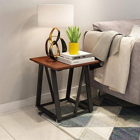 Amazon.com: Mesa de café con estante de almacenamiento ...