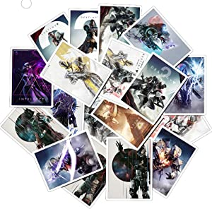 Destiny 2 Laptop Stickers Waterproof - Decals Vinyl for Water Bottle Cars Motorcycle Bicycle Bumper Skateboard Luggage Phone Case DIY Decoration Gift 25 pcs [No-Duplicate]