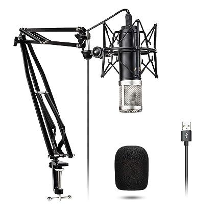 Amazon.com: VeGue - Micrófono de grabación condensador USB ...