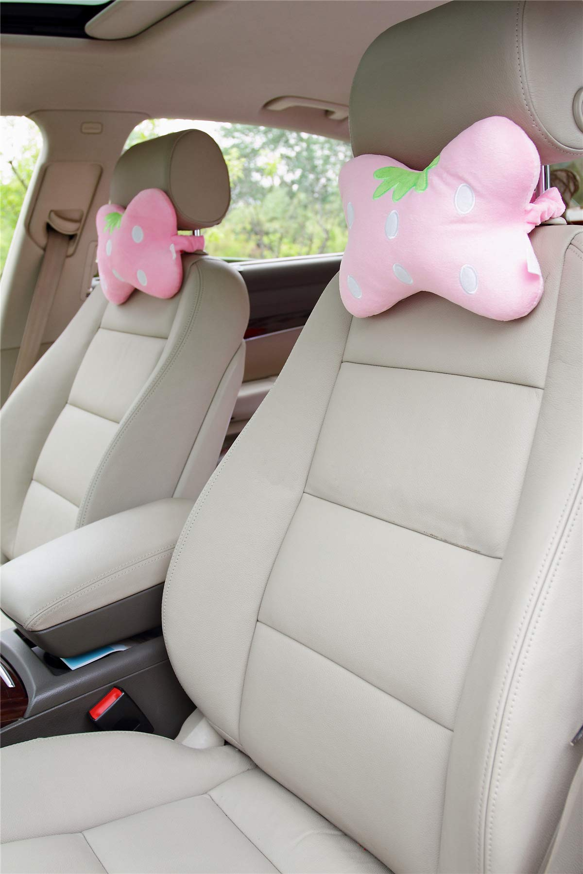 Sweet Strawberry Car Neck Pillows Car Headrest Pillows 2PCS by seemehappy (Image #2)