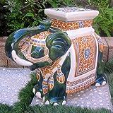 International Caravan VHO16A-C-LG-608-IC Furniture Piece Large Porcelain Elephant & Amazon.com : Large Porcelain Elephant Stool (Green) : Garden u0026 Outdoor islam-shia.org