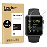 [4 Pack] Pellicola Vetro Temperato Apple Watch 42mm Series 1 / Series 2 / Series 3, iVoler ** [Protezione Antigraffi] **Anti-riflesso Ultra-Clear** Ultra resistente in Pellicola Apple Watch 42mm Series 1 2015 / Series 2 2016 / Series 3 2017, Pellicola Protettiva Protezione Protettore Glass Screen Protector per Apple Watch 42mm.Vetro con Durezza 9H, Spessore di 0,2 mm,Bordi Arrotondati da 2,5D - Garanzia a Vita