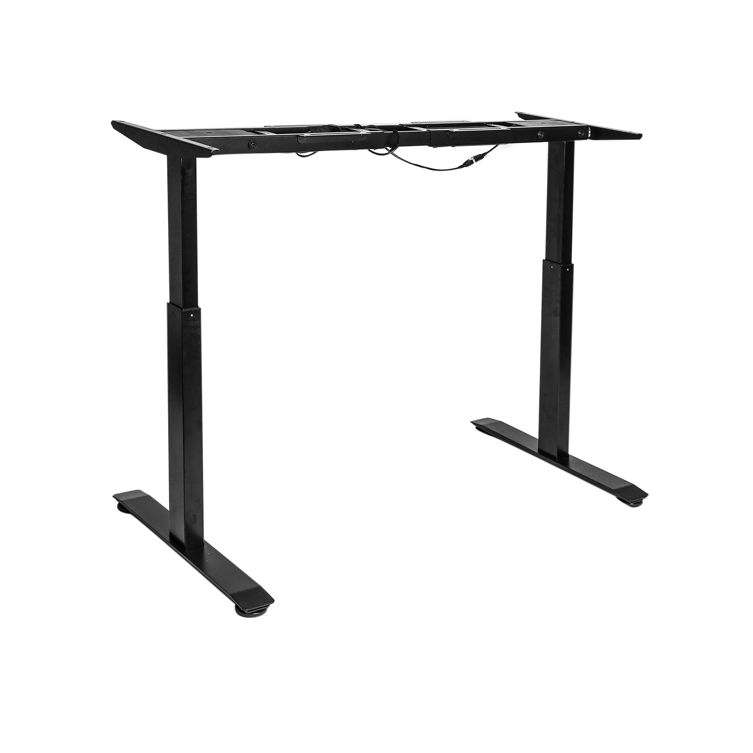 Seville Classics OFF65802 AIRLIFT S2 Electric Height-Adjustable Standing Desk (BASE ONLY) ONLY), Black