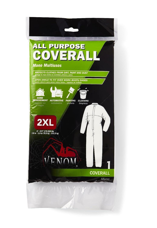 Amazon.com: Medline VENCV200XXL Venom All Purpose Coveralls, XX-Large, White (Case of 24): Industrial & Scientific
