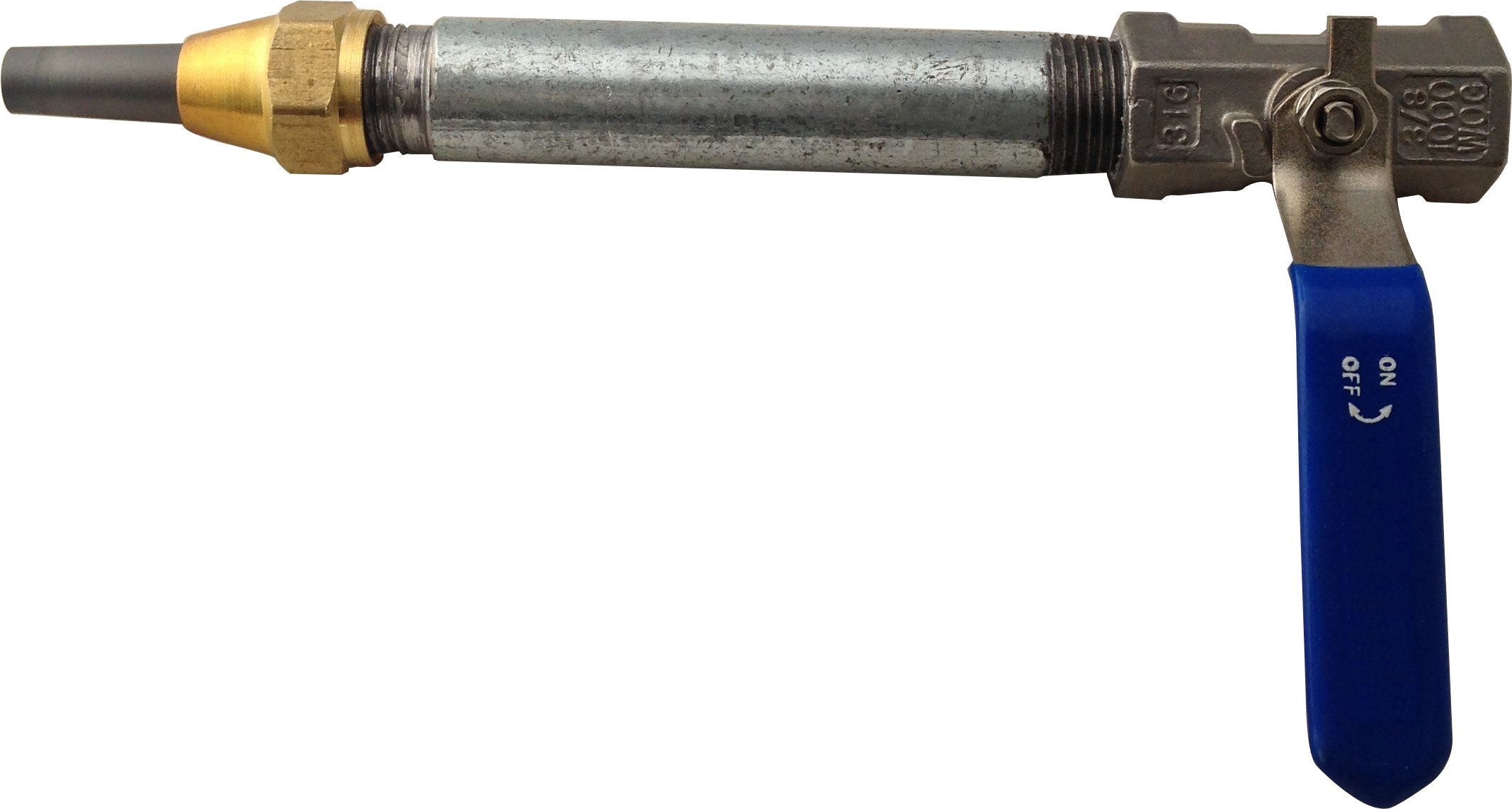 Sandblaster Nozzle Gun with Holder, Long-Lasting Steel Valve with 1/8'' ID Super Long-Lasting ROC TEC Composite Carbide Tip