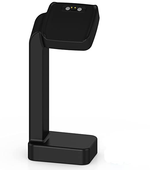 Pebble Time Stand Charger Cradle, XIEMIN Replacement USB Charging Station Matte Surface Dock for Pebble Time Watch (Black)