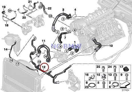 amazon com bmw genuine cooling coolant hose heater return rh amazon com