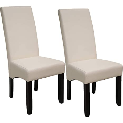 Pack de 2 sillas Osaka Blancas de salón Comedor de Polipiel Blanco ...