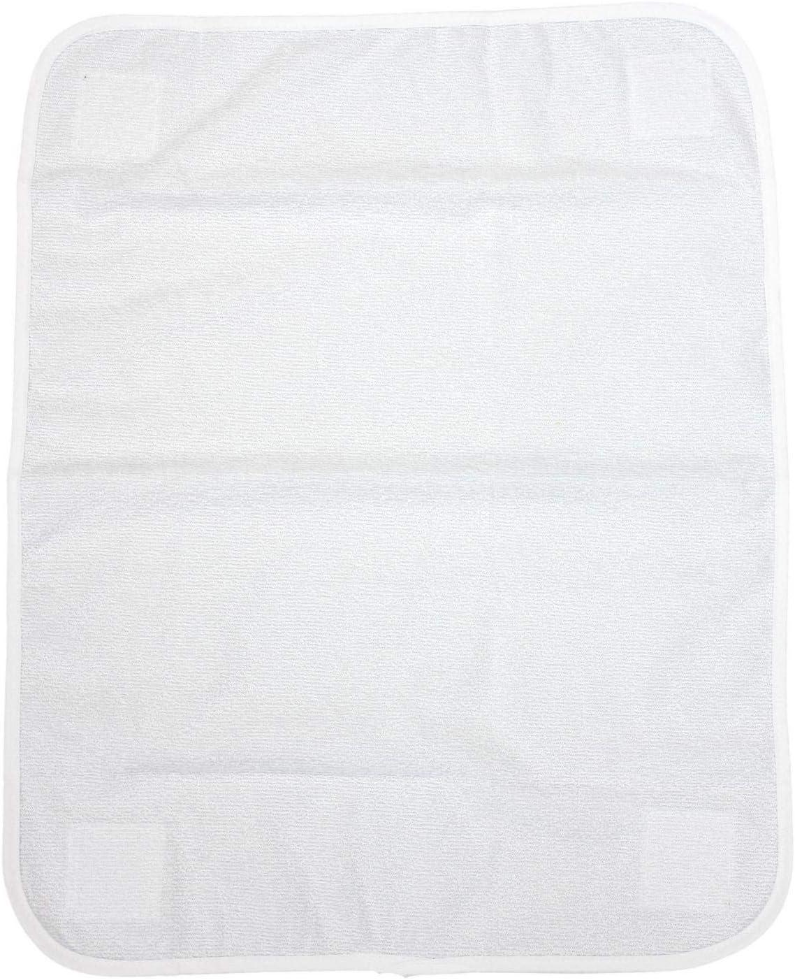 TupTam Toalla de Rizo para Cambiador de Bebé, Blanco, 44x58cm (para Colchón 70x70, 76x76)