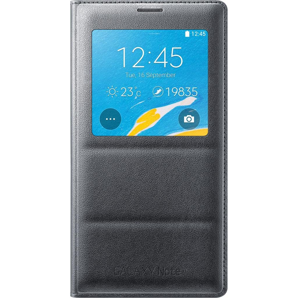 Samsung Galaxy Note 4 Case, S View Flip Cover Folio Case - Charcoal Black by Samsung