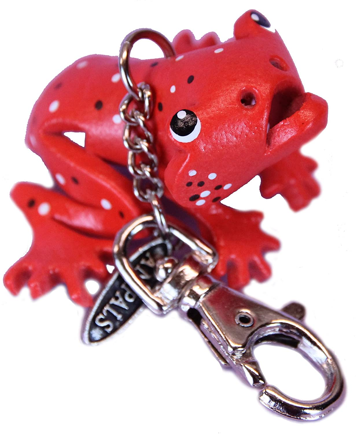 Purse Charm - Strawberry Poison Dart Frog - Personalized Animal Gifts