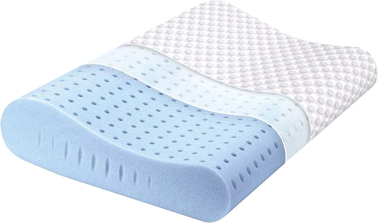 Milemont Memory Foam Pillow, Cervical Pillow, Orthopedic Contour Pillow Support for Back, Stomach, Side Sleepers, Bed Pillows for Sleeping, CertiPUR-US