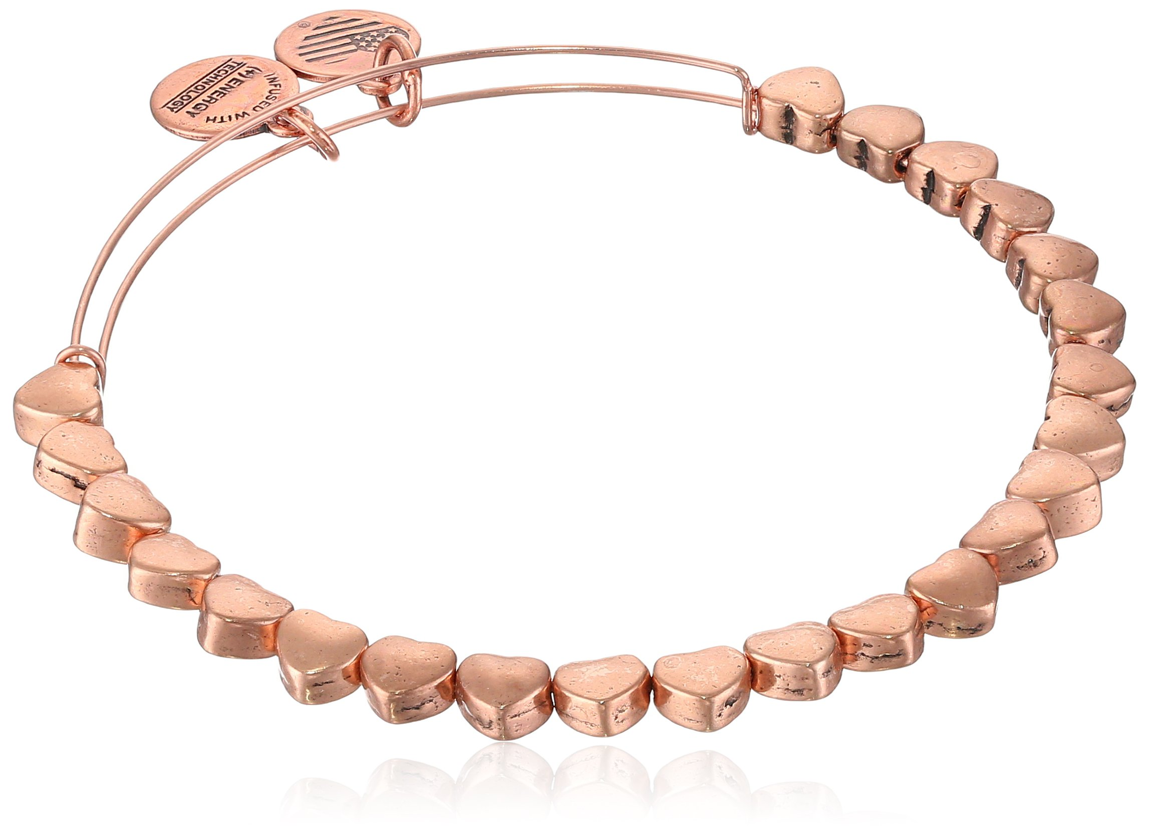 Alex and Ani Heart Beaded, Rose Gold, Expandable