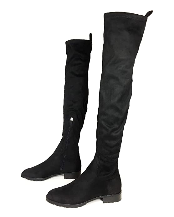 984b467339ad8 Amazon.com: Zara Women Flat Over-The-Knee Boots 6060/301: Shoes