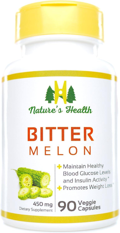 Pure Raw Bitter Melon Fruit Powder Capsules 100 Caps Diabetic Antioxidant