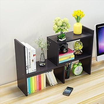 Ywxg Japanese Style Diy Creative Woody Desktop Small Bookshelves