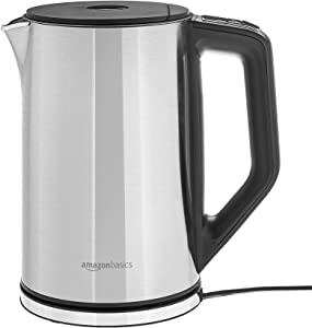 AmazonBasics Stainless Steel Kettle with Temperature Control, 1.5L, Grey (Renewed)