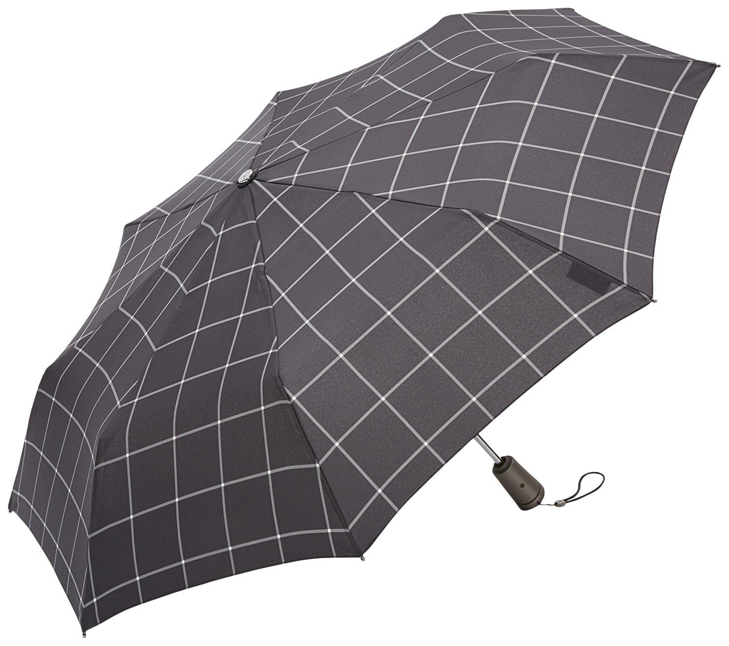 トーツ (totes) 自動開閉 折り畳み傘 Titan Line 三つ折り54cm W80(ブラックチェック) B01BHU6NQQ ウィンドウペン ウィンドウペン