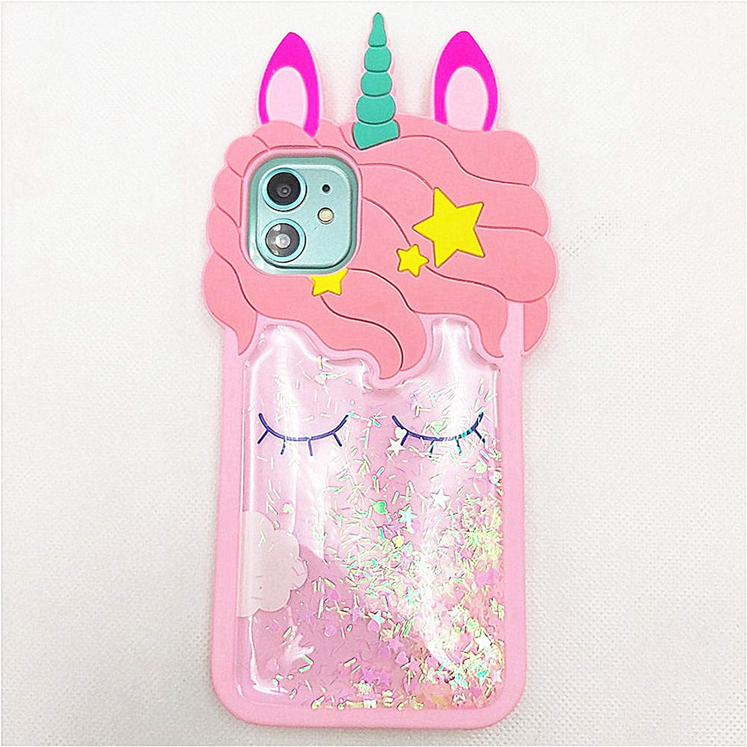 for iPod Touch 7 Case Cute iPod Touch 6 Case Unicorn iPod Touch 5 Case 3D Cartoon Quicksand Soft Silicone Rubber Cover Women Teen Girls Cute Cases for iPod Touch 7th 6th 5th Generation (Touch 5/6/7)