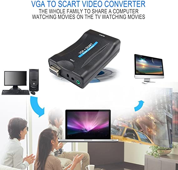 Vga Zu Scart Konverter Video Converter Portable Video Elektronik