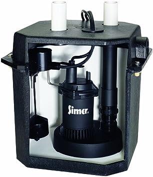 Pentair Simer 2925B 115V 6 Gallon Under Sink Laundry Pump System w Tank
