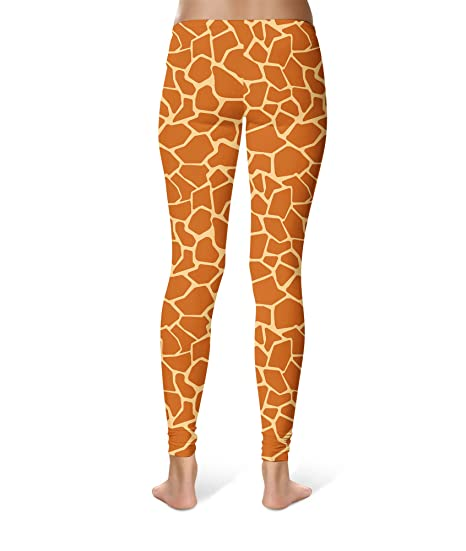 58f61b2ea1073 Queen of Cases Giraffe Print Leggings XS-3XL Lycra Gym Yoga Full Length at  Amazon Women's Clothing store: