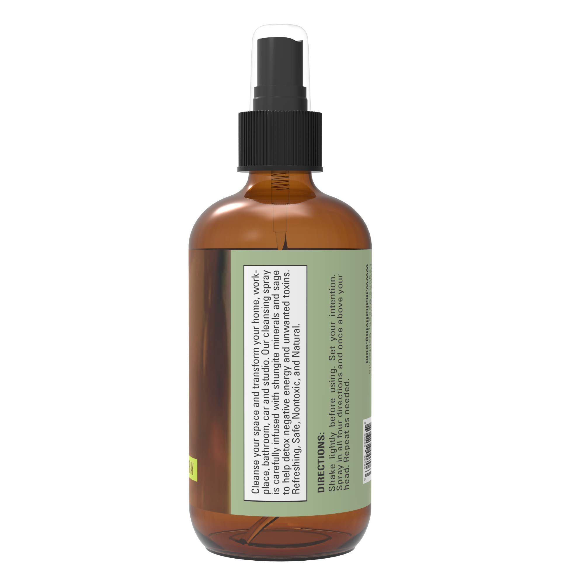 Sage Spray - Natural Essential Oil Spray for Cleansing Your Home, Office, or Linens - Crystal Infused to Help Purify And Restore - Perfect as an Air Freshener, Pillow Spray, or Aromatic Mist (4 oz) by Maha Living (Image #3)