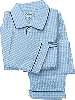 187020 子どもパジャマ チェック柄 サッカー素材 綿100%【春物・夏物】林間学校用として