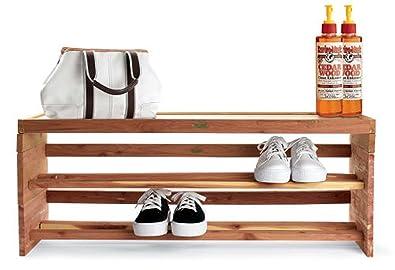 Woodlore Large Shoe Rack Topper,Cedar,Large