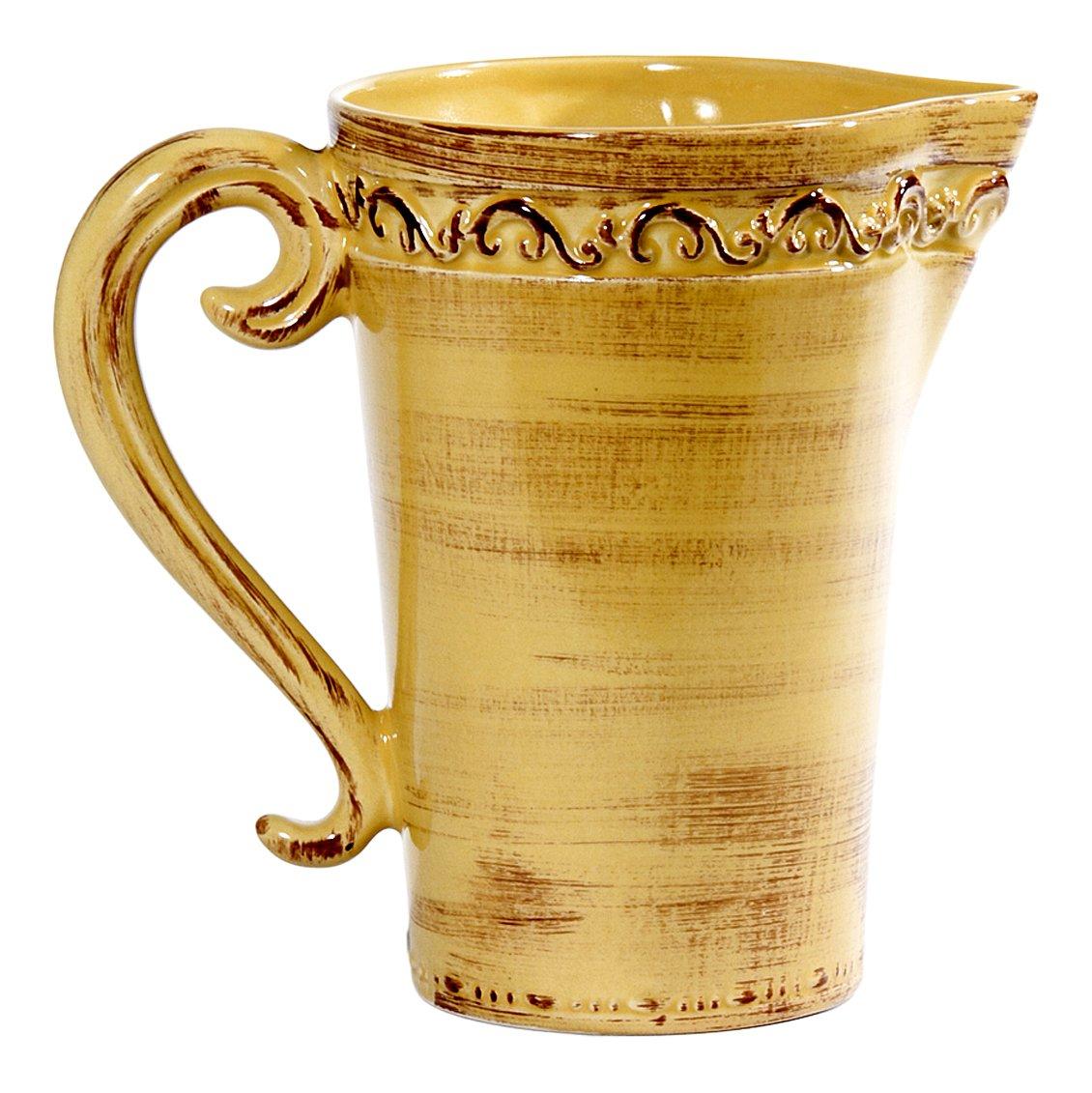 Intrada BAR7423Y Baroque Pitcher, Honey by Intrada