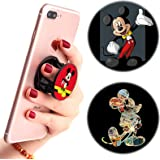 3 Pack / Multifunction Disney Cell Phone Stand Holder and Grip Mickey Mouse Foldable Phone Kickstand Mount Compatible for Sma