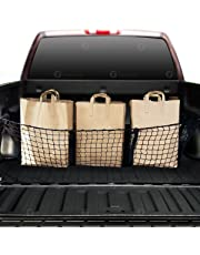 Zone Tech Three Pocket Mesh Storage Net - Black Mesh Three Pocket Trunk Cargo Organizer