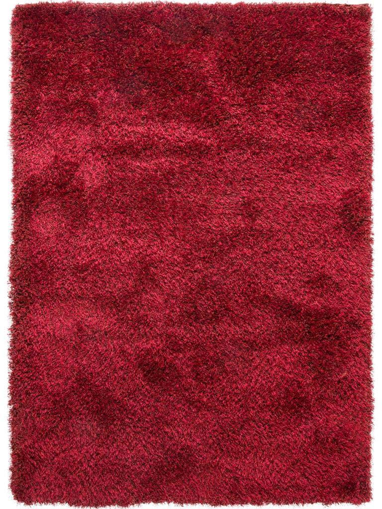 Benuta Shaggy Hochflor Teppich Sophie Rot 80x150 cm   Langflor Teppich für Schlafzimmer und Wohnzimmer