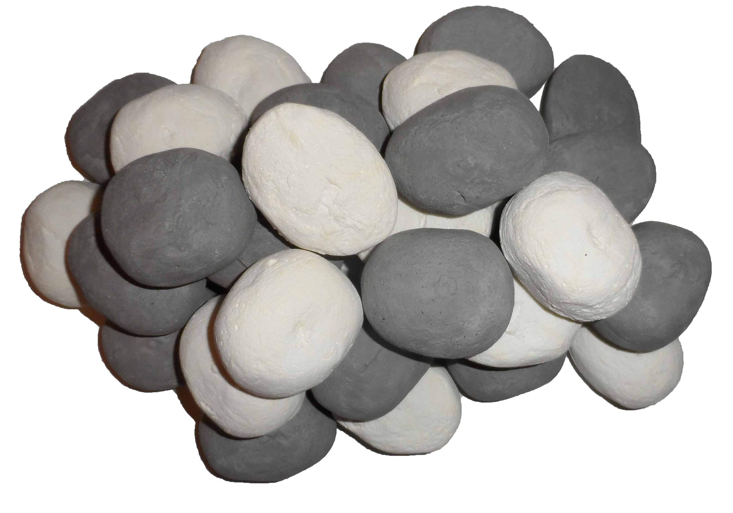 20 GAS COAL FIRE REPLACEMENT CERAMIC MIXED PEBBLES 60MM NEW SELLER OFFER