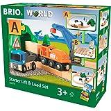 Brio Starter Lift&Load Set Wooden Toy Train, Multi